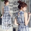 Lady Ribbon Maxi Dress เดรสยาว ผ้าพิมพ์ลายตาราง thumbnail 3