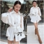 Lady Ribbon White Shirt Dress with Belt thumbnail 3