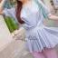 Lady Ribbon เสื้อจับจีบช่วงเอว ชายระบาย สีฟ้า/ชมพู thumbnail 1