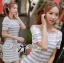 Lady Ribbon Lady Cherline Smart Casual Striped Lace Dress thumbnail 3