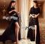 Lady Ribbon Glam Chic Evening-wear Maxi Dress thumbnail 2