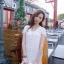 Ivory Knit Mini Dress มินิเดรสไหมพรม สีโทนอ่อน thumbnail 8