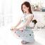 Seoul Secret เดรสสีฟ้า ลายพิมพ์น่ารัก แต่งผ้าลูกไม้ช่วงอก thumbnail 5