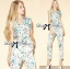 Lady Ribbon Pastel Floral Printed Sleeveless Jumpsuit thumbnail 2