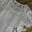 Lady Ribbon Lace Blouse and Polka Dots Peplum Pant Set thumbnail 6