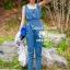 Seoul Secret Nifty Blue Tenderness Gene Long Playsuit thumbnail 3