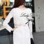 Lady Ribbon Lace Mini Dress มินิเดรสแขนยาว ดีเทลลูกไม้ทั้งตัว thumbnail 5