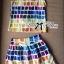 Lady Ribbon Lady Coco Chanel Colorful Painting Dress Set thumbnail 8