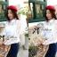 Lady Ribbon White Lace Shirt เสื้อเชิ้ตสีขาว แต่งลูกไม้ thumbnail 8