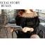 มินิเดรส ผ้าชีฟองสีดำ แต่งไหมพรมถักที่คอ แต่งระบาย thumbnail 6