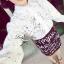 Lady Ribbon Floral Lace Shirt เสื้อเชิ้ตแขนยาว ลูกไม้ซีทรู thumbnail 1