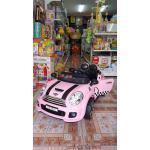 รถแบตเตอรี่มินิคูเปอร์ 2 มอเตอร์ LN5616 สีชมพู