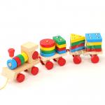 รถไฟไม้สอนเรียงรูปทรง
