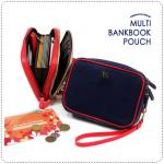 Multi BankBook Pouch - Navy