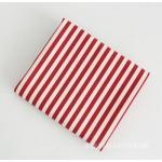 ผ้าแคนวาสเกาหลี ลายเส้น มี 6 Color ขนาด 150x90 cm /หลา ผ้าหน้ากว้างพิเศษ (Pre-order) No.F-Red