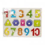 จิ๊กซอว์เรียนรู้ตัวเลข สี รูปทรง...ฟรีค่าจัดส่งค่ะ