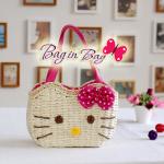 กระเป๋าถือ Hello Kitty (ชมพูเข้ม)