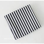 ผ้าแคนวาสเกาหลี ลายเส้น มี 6 Color ขนาด 150x90 cm /หลา ผ้าหน้ากว้างพิเศษ (Pre-order) No.B-Navy