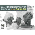 35125 GERMAN SW-36 SERCHLIGHT/WITH Sd.Ah.51 1/35