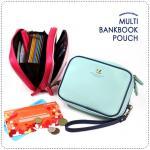 Multi BankBook Pouch - Mint