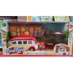Model รถขาย Fast Food สีแดง