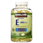 Kirkland Vitamin E 400 I.U. 1 กระปุกมี 500 เม็ด