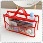 Clear dual bag in bag - Red