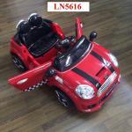 รถแบตเตอรี่มินิคูเปอร์ 2 มอเตอร์ LN 5616 สีแดง