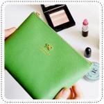 Ribbon Pouch - Green