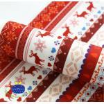 ผ้าสักหลาดเกาหลี พิมพ์ลาย Nordic size 2mm (Pre-order) ขนาด 42x30 cm มี 2 No.A สีแดง