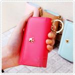 Crown keyring card wallet - Hot Pink