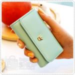 Crown keyring card wallet - Baby Blue