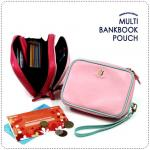 Multi BankBook Pouch - Pink