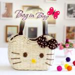 กระเป๋าถือ Hello Kitty (น้ำตาล)