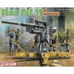 DRA6523 8.8 cm FLAK 37 mit BEHELFSLAFETTE (1/35)