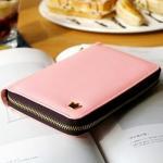 CROWN ZIP AROUND WALLET - Cotton Pink