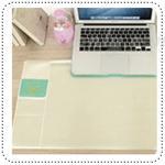 Smile Desk Mat - Ivory