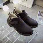 รองเท้าแบบสวม Belt Buckle Black_35