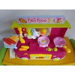 ชุดครัว Fast Food Bus สีชมพู