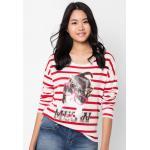 เสื้อยืด Stripe Modern Print (ขาว,แดง)