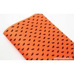 ผ้าสักหลาดเกาหลีลายฮาโลวีน size 1mm ขนาด 42x30 cm /ชิ้น (Pre-order) No.E 396 Orange