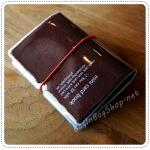 Mini Card Book - Brown