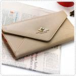 Sweet Letter Wallet - Beige