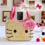 กระเป๋าถือ Hello Kitty (ชมพูอ่อน)