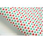 ผ้าสักหลาดเกาหลี พิมพ์ลาย Basic Christmas 1mm มี 8 ลาย ขนาด 42x30 cm /ชิ้น (Pre-order) No.D