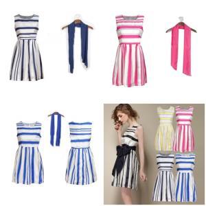 ชุดเดรส Faddish Organza Stripes