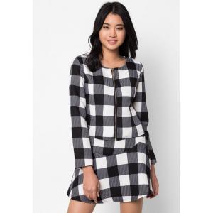 เซ็ตเสื้อเบลาส์และกระโปรง Checkers