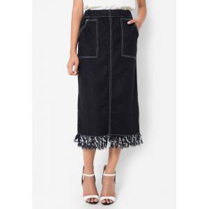 กระโปรง Maxi Double Pocket Jeans