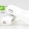 ที่ชาร์จไฟ USB ในรถยนต์ 2 พอร์ต 2.1A/1A สำหรับมือถือและแท็บเล็ต ipad ยี่ห้อ GOLF รุ่น GF-C01