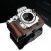 Gariz Leather Half-case for Nikon Df : Brown